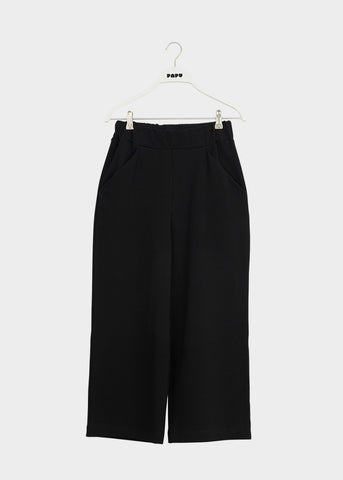 WIDE LEG TROUSERS, Black, Women