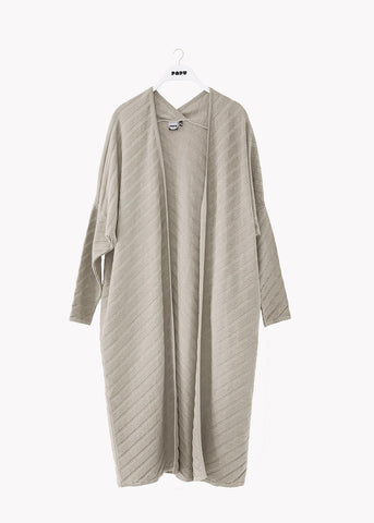 LONG CARDIGAN, Structure Knit, Silent Grey, Women