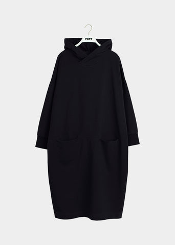 GIANT HOODIE DRESS, BLACK, Adults