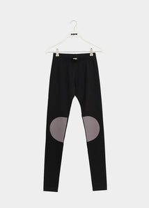 PATCH LEGGINGS, BLACK / STONE GREY, Adults