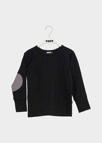 PATCH SHIRT, Black, Stone grey