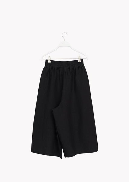 LINEN CULOTTES, Black, Adults