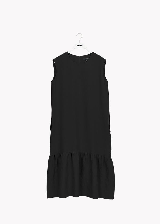 GATHER HEM DRESS, Black, Adults