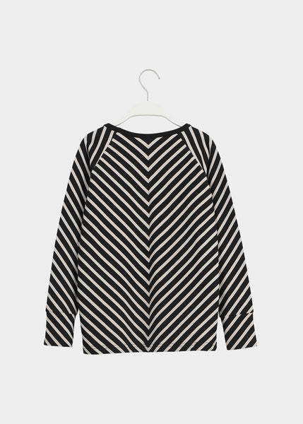 STRIPE SHIRT, Black, Sand