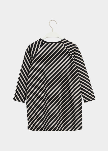 STRIPE TUNIC, Black, Sand