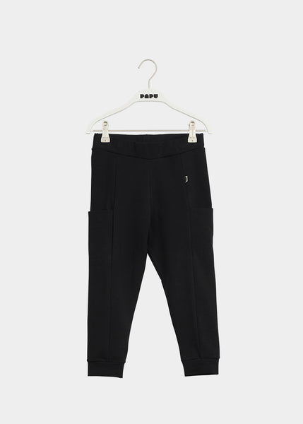 THIGH POCKET PANTS, Black