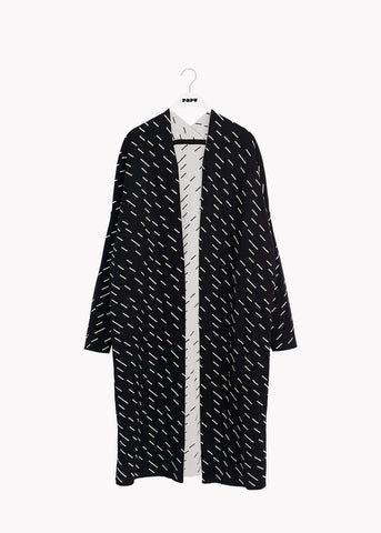 LONG CARDIGAN, Windy Day, Black/Gypsum White