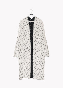 LONG CARDIGAN, Windy Day, Gypsum White/Black