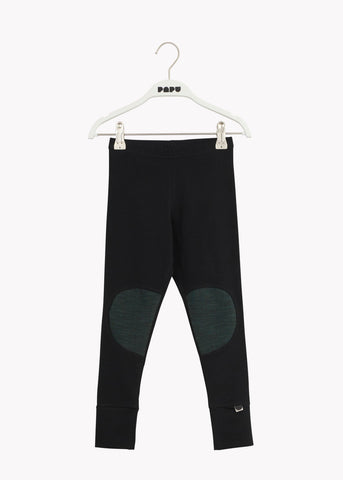 PATCH LEGGINGS, Black/School Green