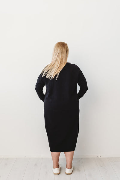 GIANT SPLIT DRESS, BLACK, Adults