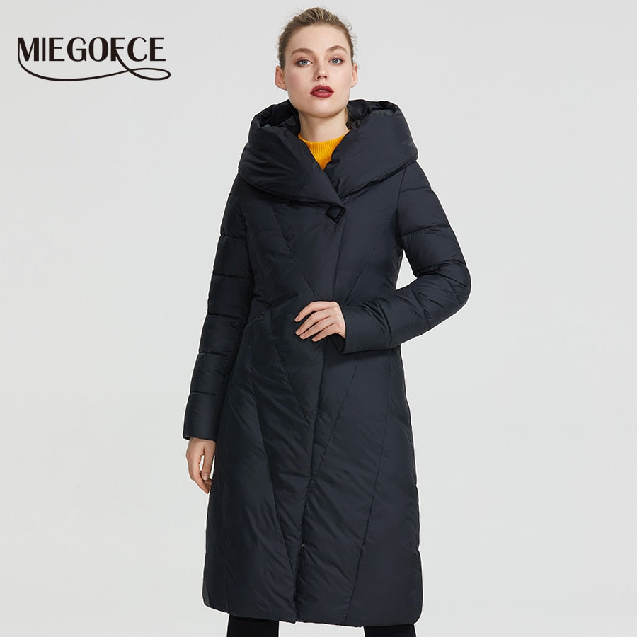 MIEGOFCE 2020 Winter Long Model Women's Jacket Coat Warm Fashion Women Parkas High-Quality Bio-Down Women Coat Brand New Design