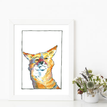 Charlize Coyote Matted Art Print