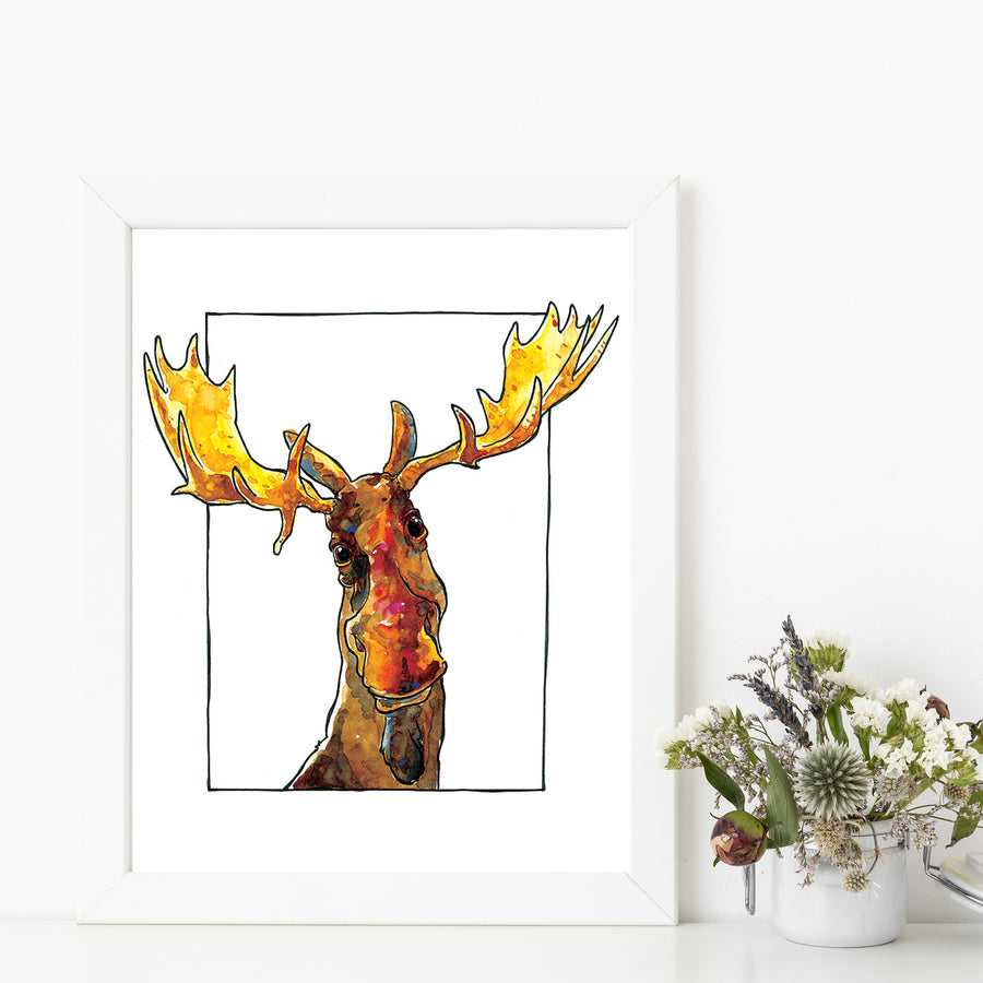 Dennis Moose Matted Art Print