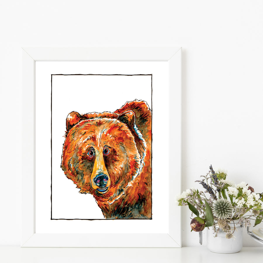 Hope Grizzly Bear Matted Art Print