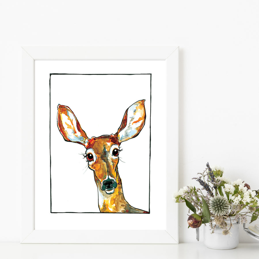 Stephanie Deer Matted Art Print