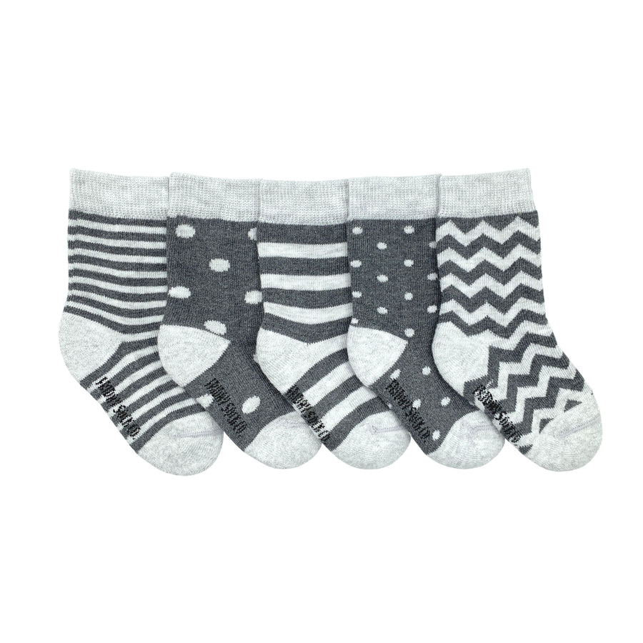 Stripes + Dots Mismatched Baby Socks