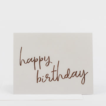 Happy Birthday Rose Gold  Card
