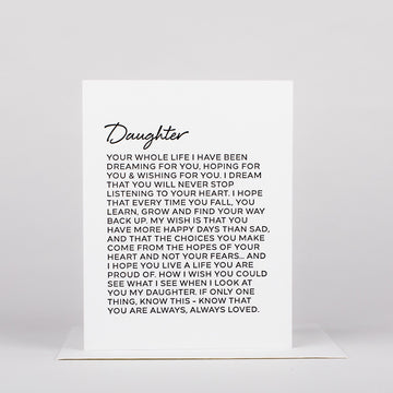 Dear Daughter Card