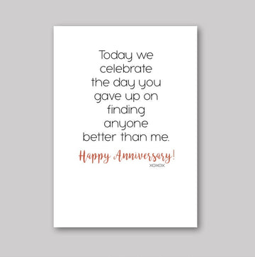 Better Than Me Anniversary Card
