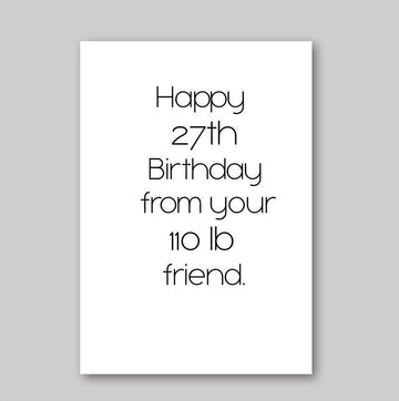 Birthday Lies Card