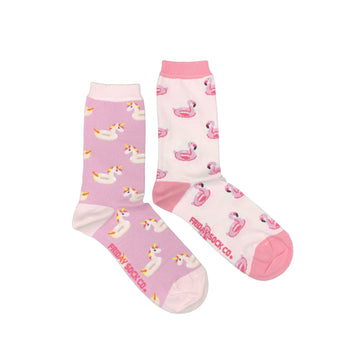 Women's Unicorn & Flamingo Pool Floaty Socks