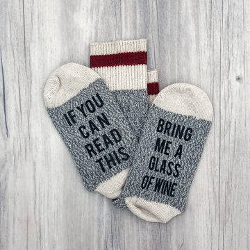 If You Can Read This Bring Me Wine Women's Socks