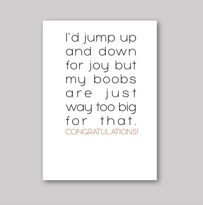 Jump Up and Down Congratulations Card
