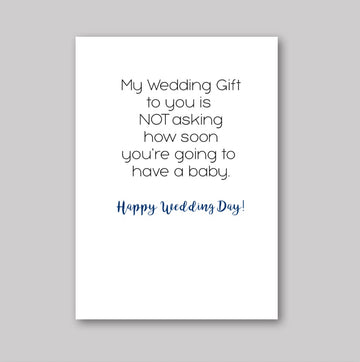 Gift to You Wedding Card