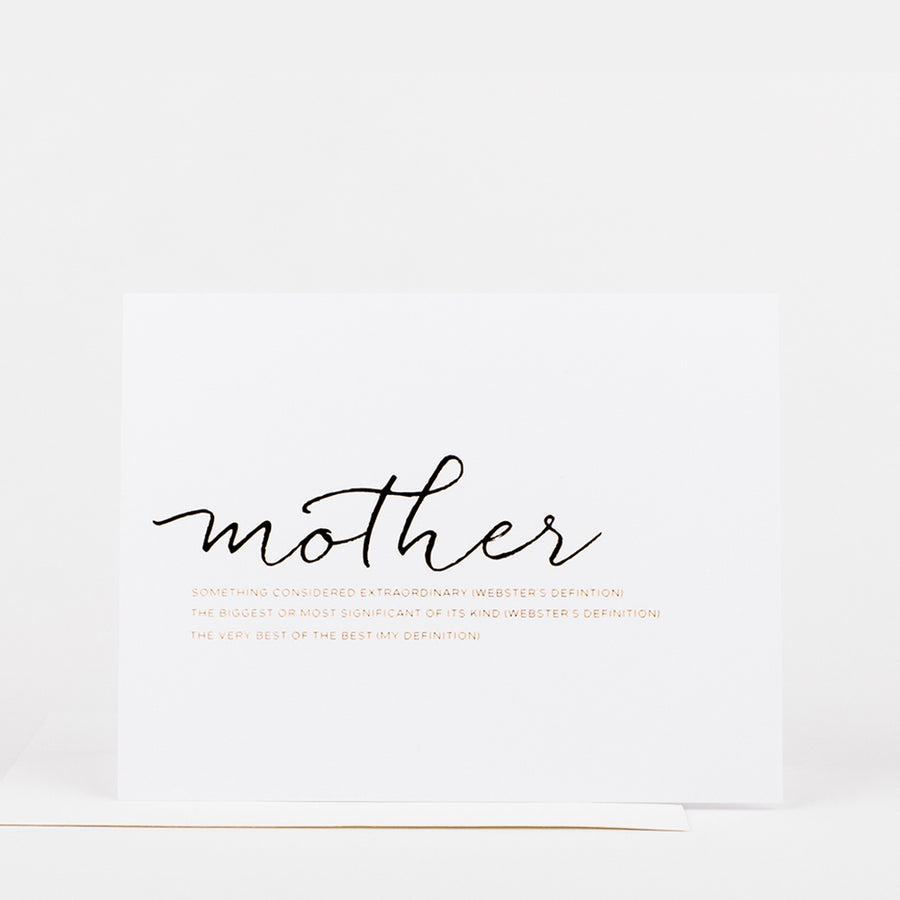Mother Definition Card