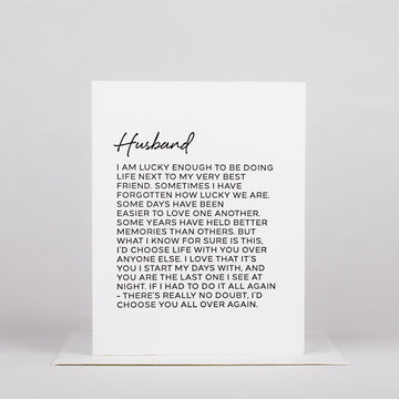 Dear Husband Card