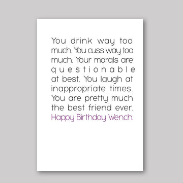 Happy Birthday Wench Card