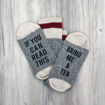 If You Can Read This Bring Me Tea Women's Socks