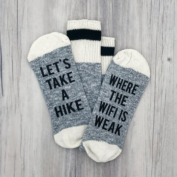 Let's Take a Hike Men's Socks
