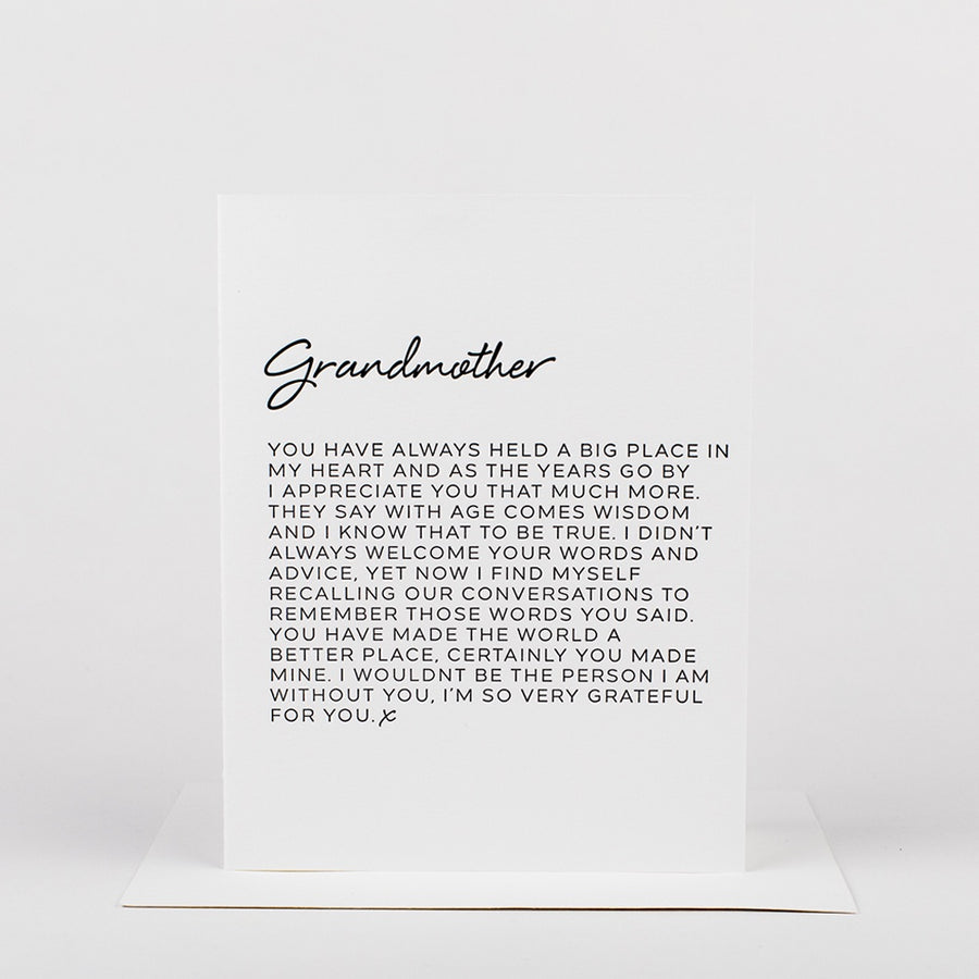 Dear Grandmother Card