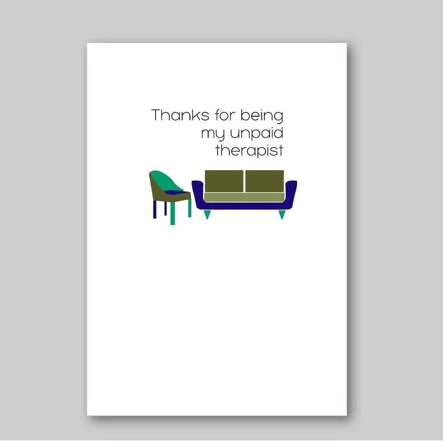 Unpaid Therapist Card