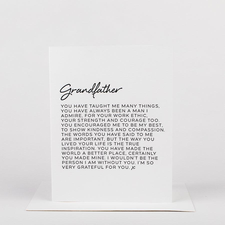 Dear Grandfather Card