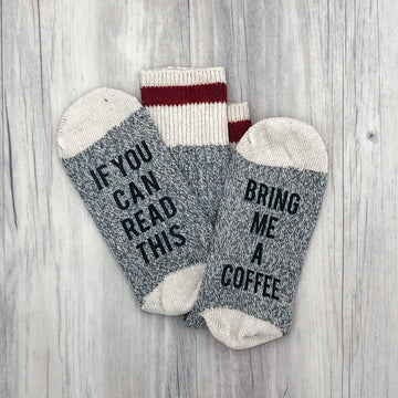 If You Can Read This Bring Me Coffee Women's Socks