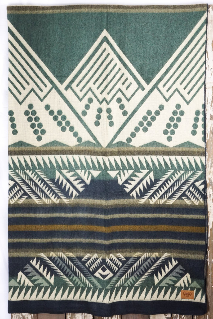 Columbia Mountain Heartprint Queen Blanket