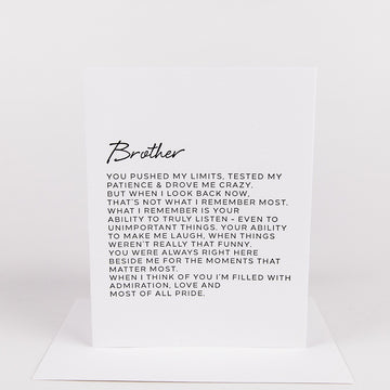 Dear Brother Card
