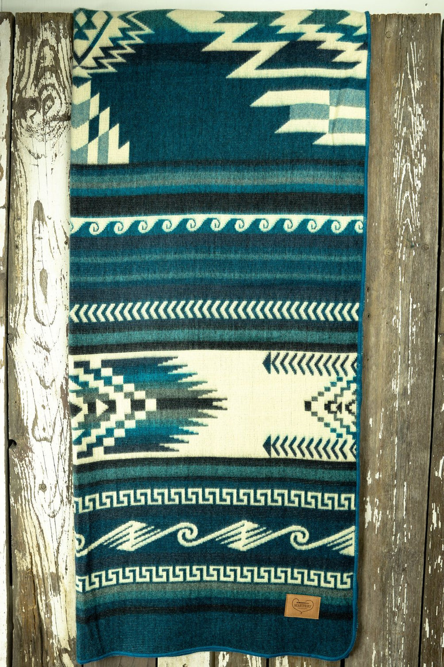 Deep Sea Muskay Heartprint Queen Blanket