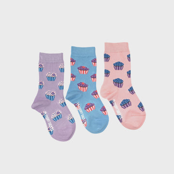 Cupcake Mismatched Kids Socks