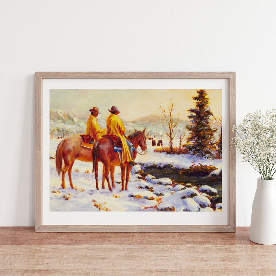 Early Snow Brett Heidi Art Print