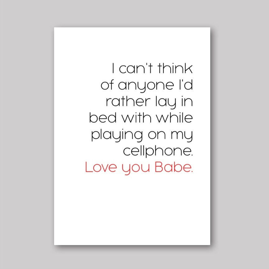 Cellphone Love Card