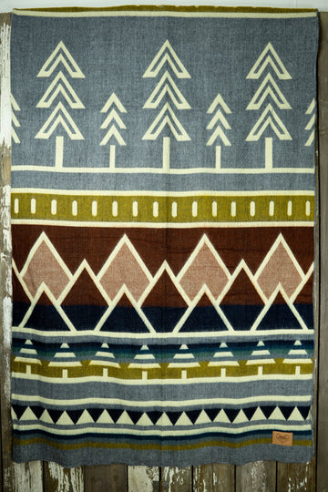 Subalpine Tree Line Heartprint Queen Blanket