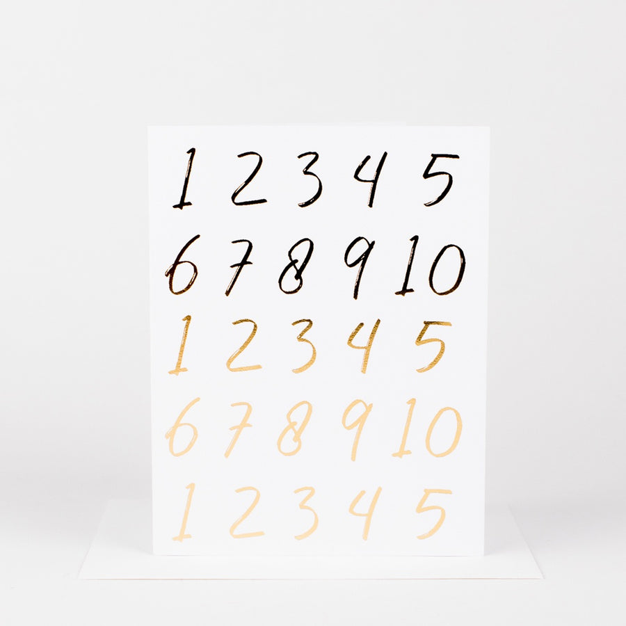 Numbers Birthday Card