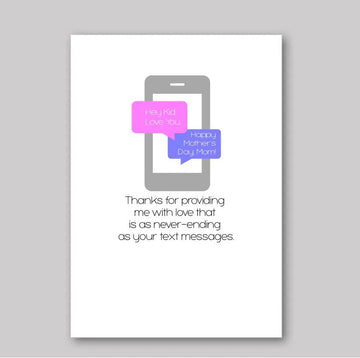 Text Message Love Mother's Day Card