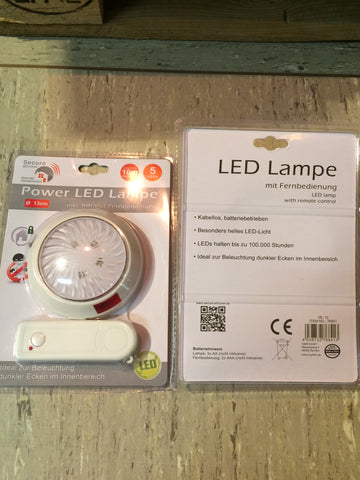 Power Lampe LED 13 cm inkl. Infrarot - Fernbedienung