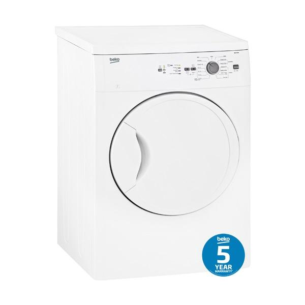 BEKO BDV70W 7kg Sensor Controlled Vented Dryer
