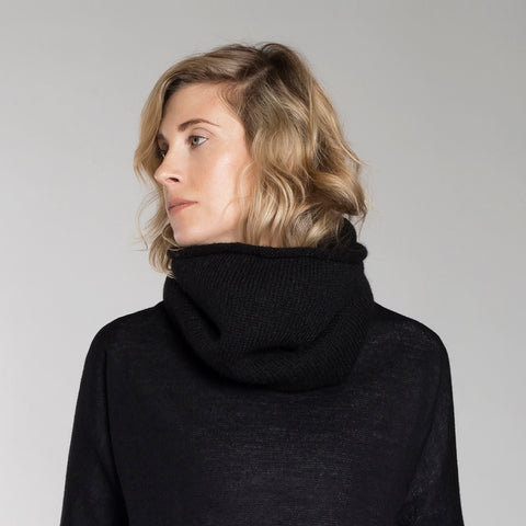 GROSSO CIRCULAR SCARF black / charcoal