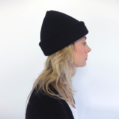 GROSSO BEANIE black / charcoal